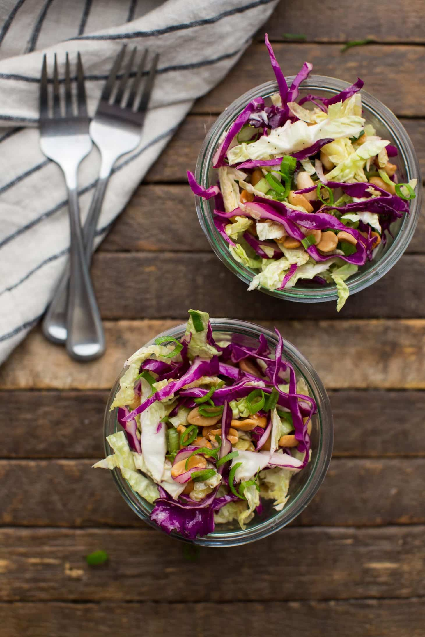 Cabbage Salad with Peanuts | Cheap Healthy Dinners