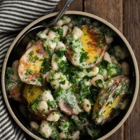 Braised Potato Salad with White Beans
