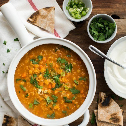 Easy Curry Yellow Split Pea Soup with Carrots