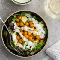 Buffalo Chickpea Salad with Homemade Ranch