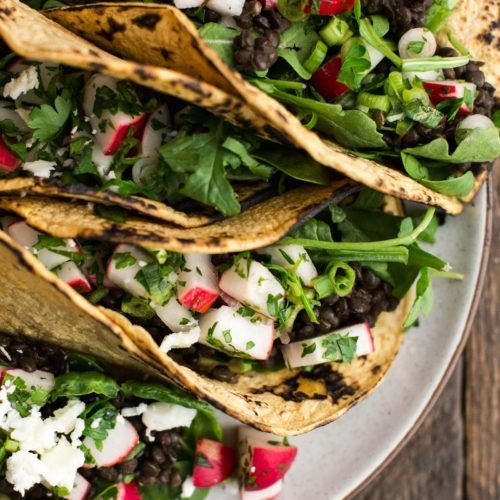 Spicy Lentil Tacos with Radish Salsa | @naturallyella