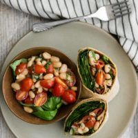 Bruschetta White Bean Wrap