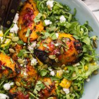 Grilled Chipotle Peach Salad