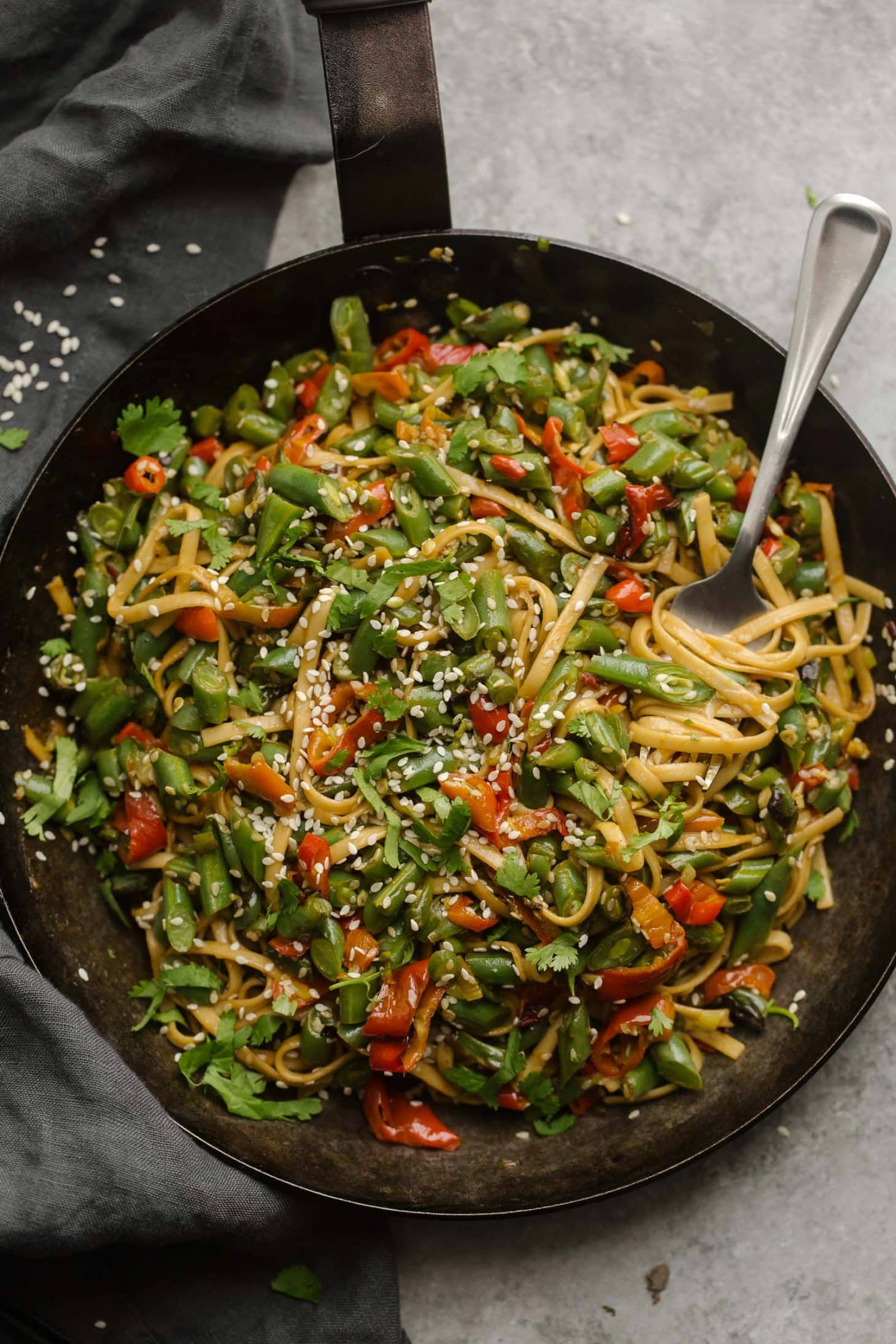 Spicy Green Bean Stir Fry | @naturallyella