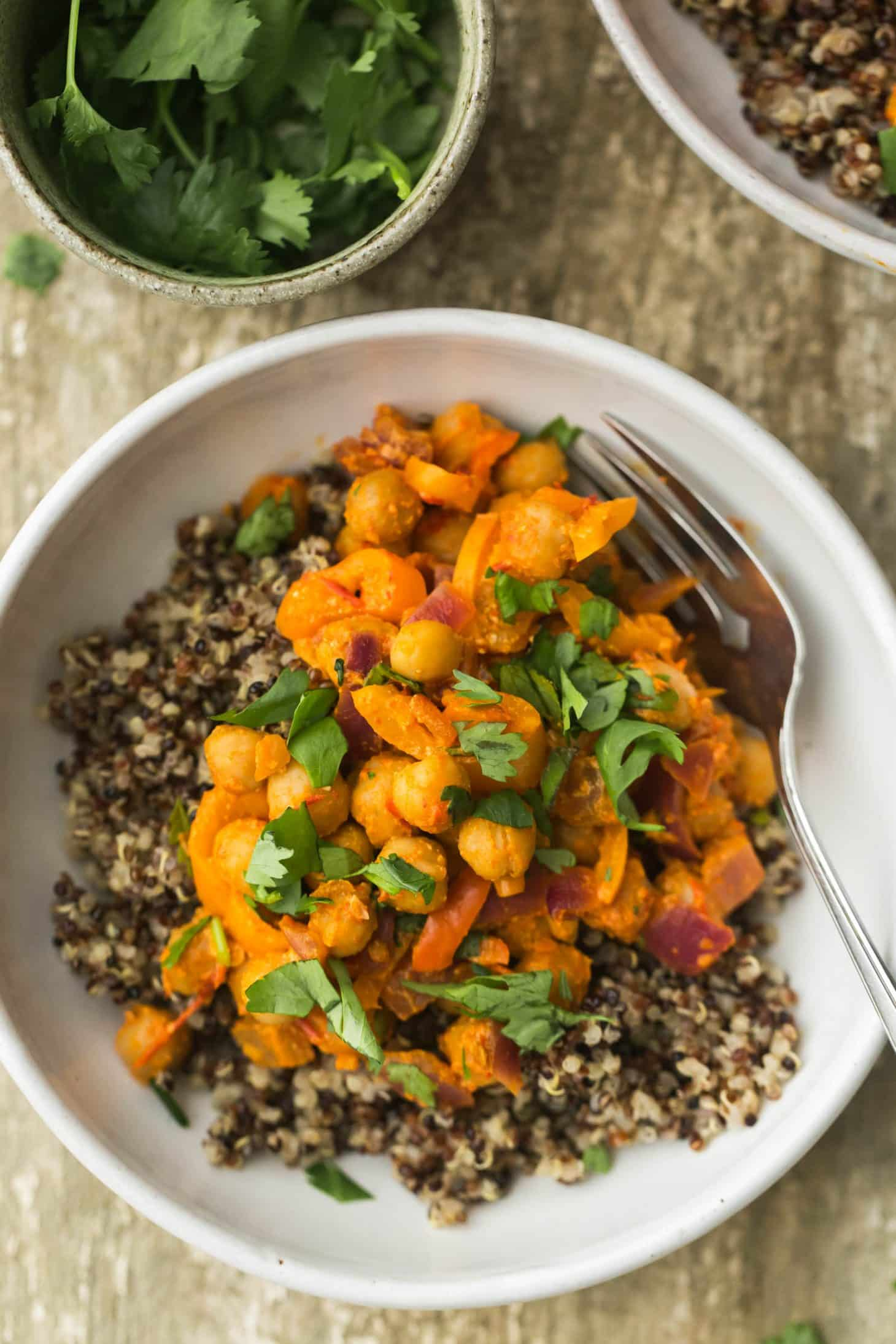 Harissa Yogurt Roasted Chickpea Bowl