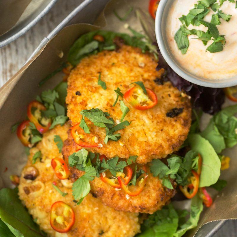 Millet Sweet Corn Fritters | @naturallyella