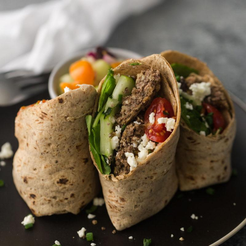 Mediterranean Wraps with Lentil Bites
