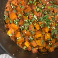 One Pot Rice and Curried Butternut Squash