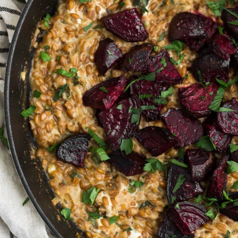 Cracked Spelt Risotto with Roasted Beets   @naturallyella