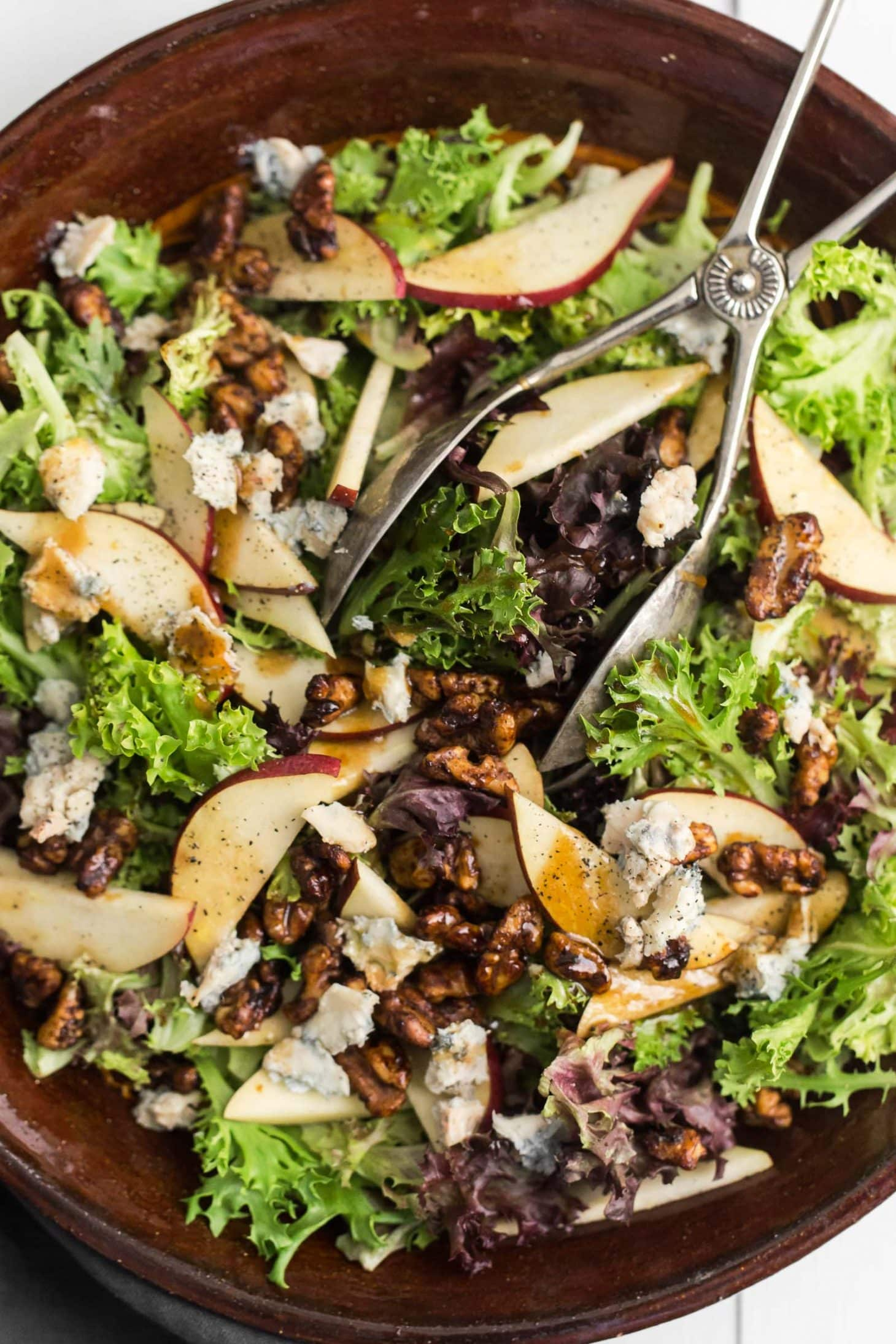 Pear Salad with Gorgonzola | @naturallyella