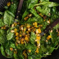 Roasted Beet Salad with Herbs and Spinach
