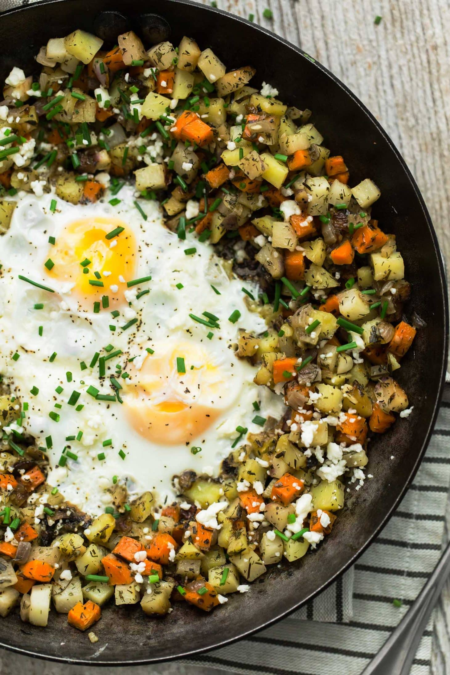 Root Vegetable Hash Egg Skillet | @naturallyella