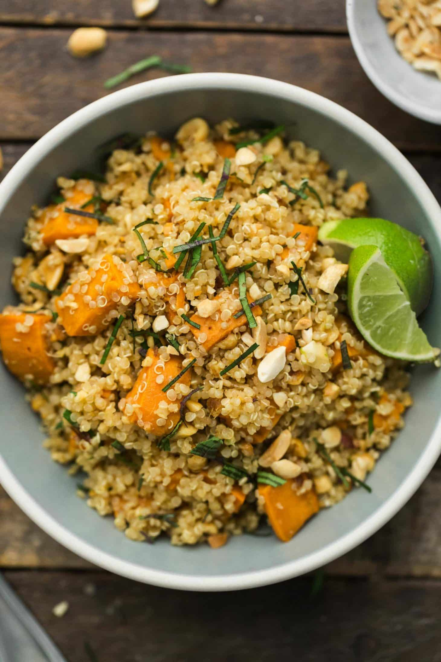 Thai Sweet Potato Quinoa | @naturallyella