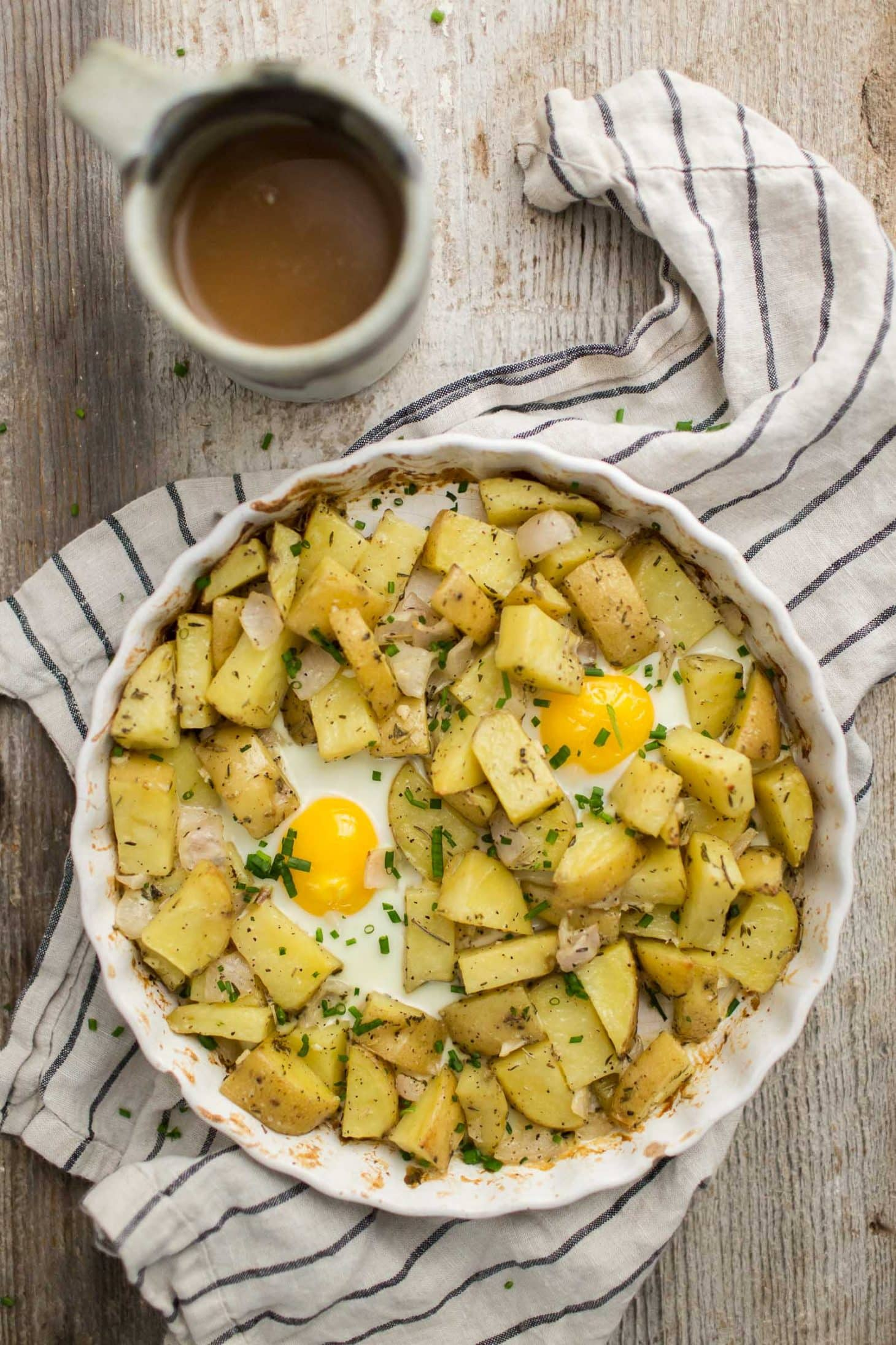 Potato Egg Bake with Rosemary and Thyme | Naturally Ella