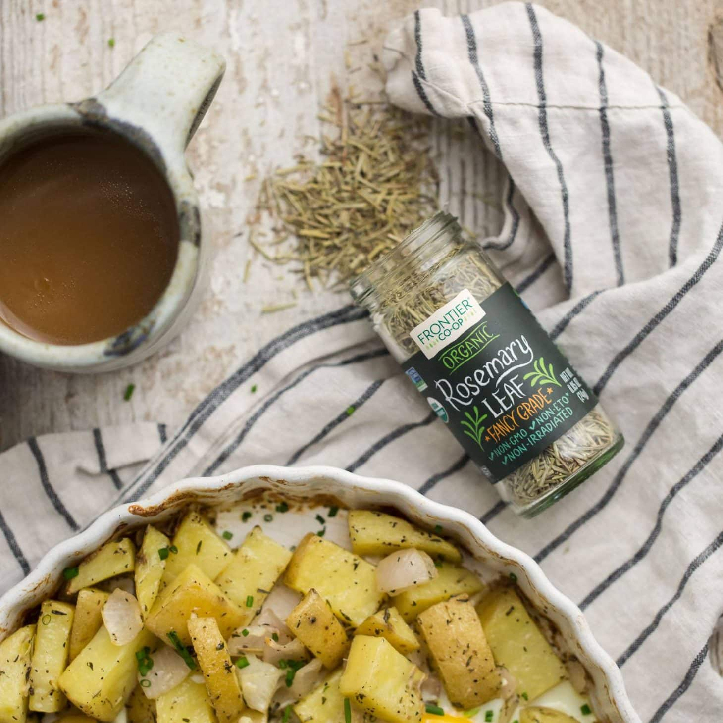 Rosemary Potato Egg Bake featuring Frontier Co-op Rosemary | @ ...