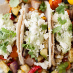 Summer Vegetarian Tacos with Avocado Cream