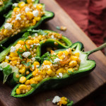 Sweet Corn Sorghum Stuffed Peppers