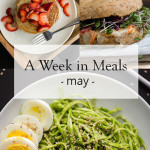A Week in Meals (May)