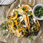 Delicata Squash Tacos with Black Beans