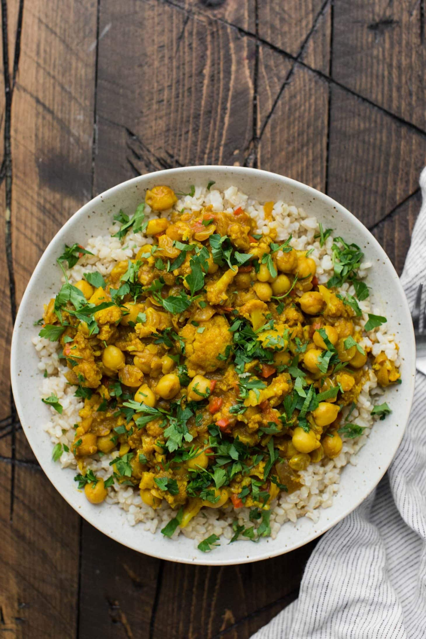 African Curry with Chickpeas (Cape Malay Curry) | @naturallyella