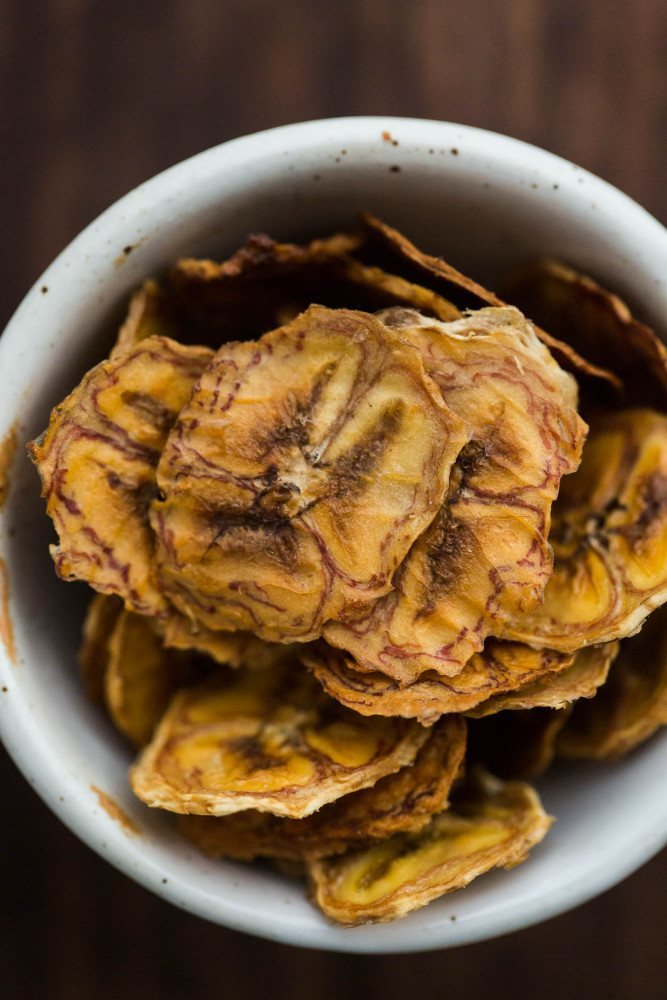 Baked Banana Chips With No Added Sweetener Naturally Ella