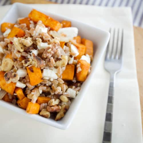 sweet potato and farro