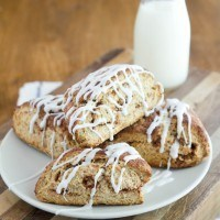 """Cinnamon Roll"" Scones"