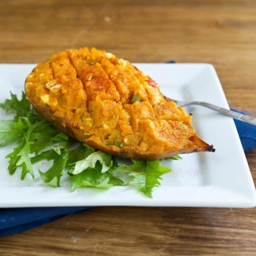 Curried Stuffed Sweet Potato