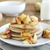 Rye Pancakes with Apple Topping