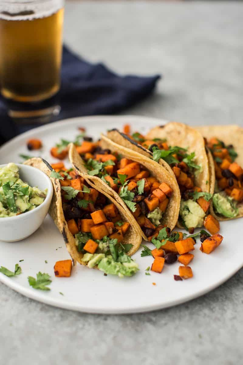 Chipotle Sweet Potato Tacos with Black Beans