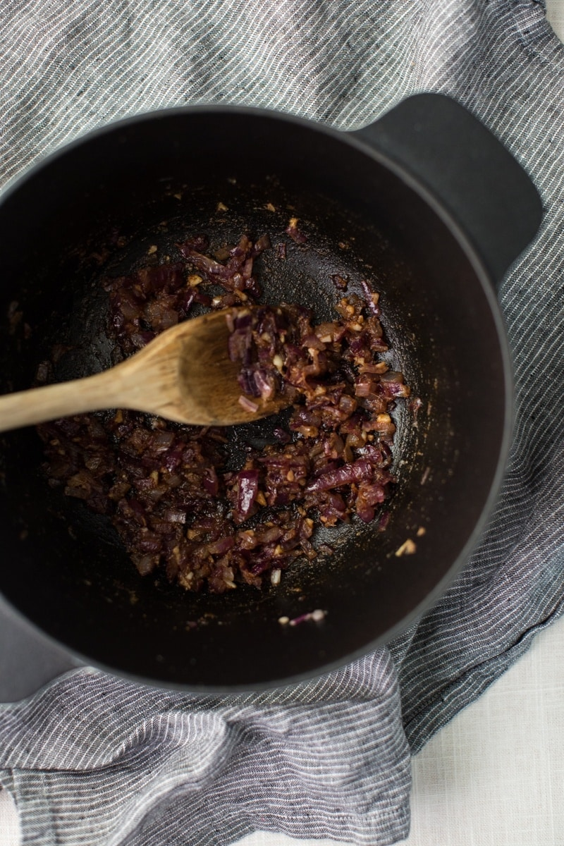 Cooked Red Onions | @naturallyella