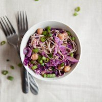 Sesame Orange Chickpeas, Cabbage, and Soba Noodles