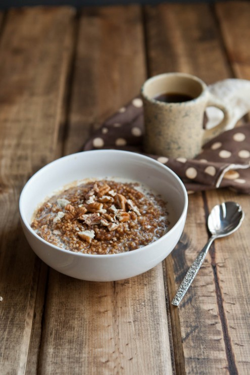 Pumpkin Pie Millet Porridge | Naturally Ella