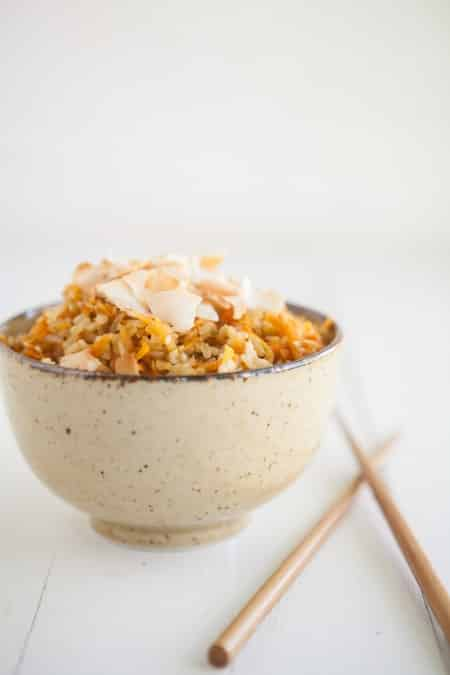 Carrot Ginger Brown Rice