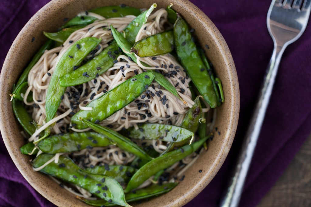 Snap Peas and Soba Noodles with Honey Soy Dressing: Spring ...