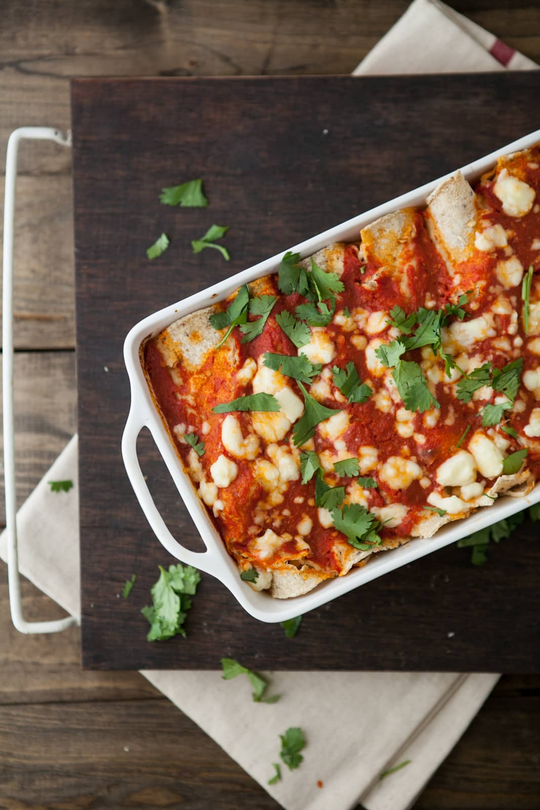 Roasted Corn and Ricotta Enchiladas- Sweet Corn Recipes | http://naturallyella.com
