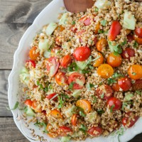 Summer Farro Salad with Tomatoes