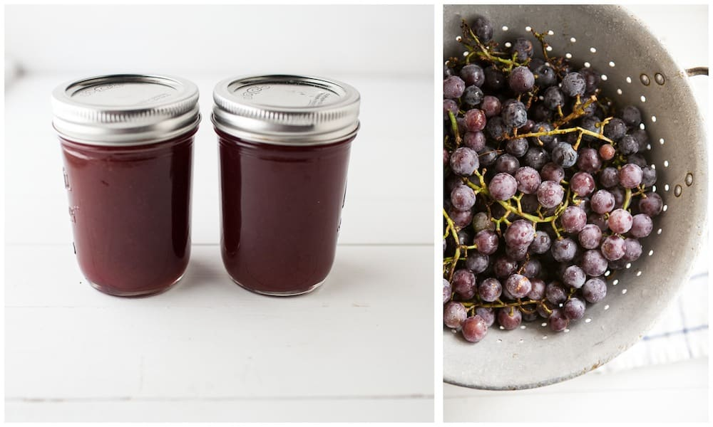 how to prepare grapes for jelly