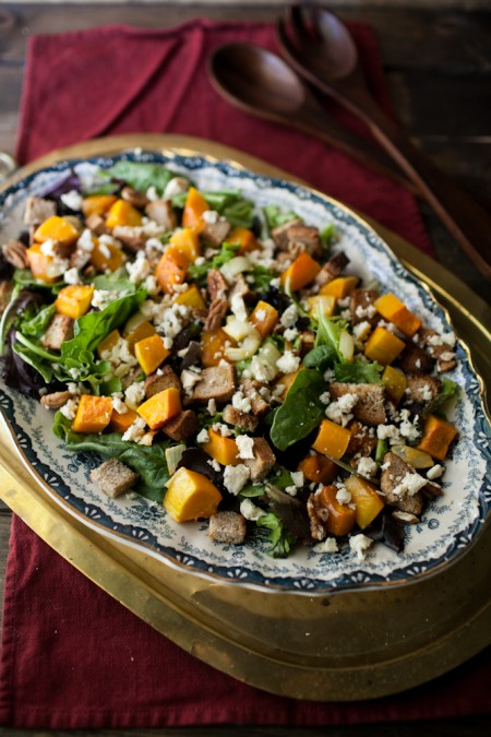 Honey-Roasted Butternut Squash and Blue Cheese Salad