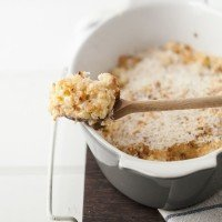 Cheddar Cauliflower Gratin with Roasted Garlic