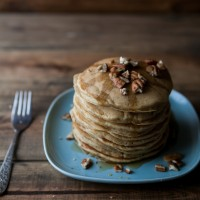 Roasted Pumpkin and Pecan Pancakes