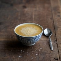 Roasted Cauliflower and Cheddar Cheese Soup