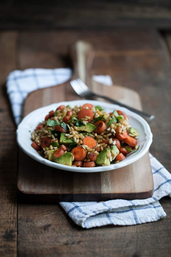 Kamut Salad with Chipotle Carrots
