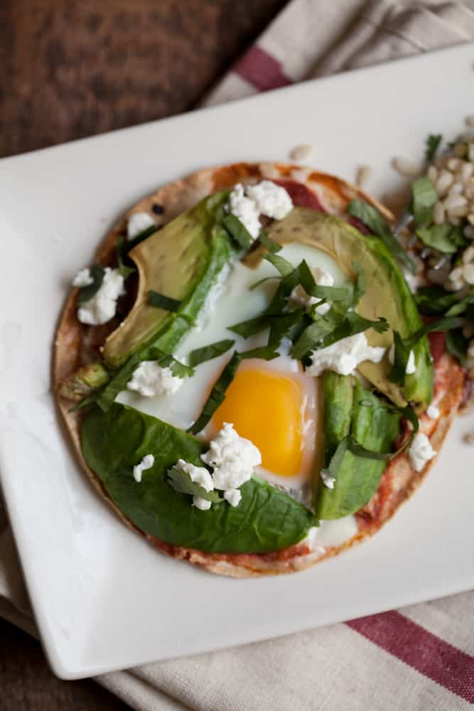 Baked Eggs and Avocado Tostadas | @naturallyella