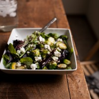 Roasted Brussels Sprouts and Lentil Salad