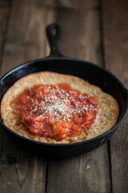 Almond Dutch Baby with Blood Orange Compote