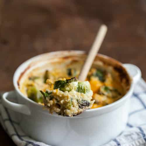 Roasted Brussel Sprout and Millet Gratin