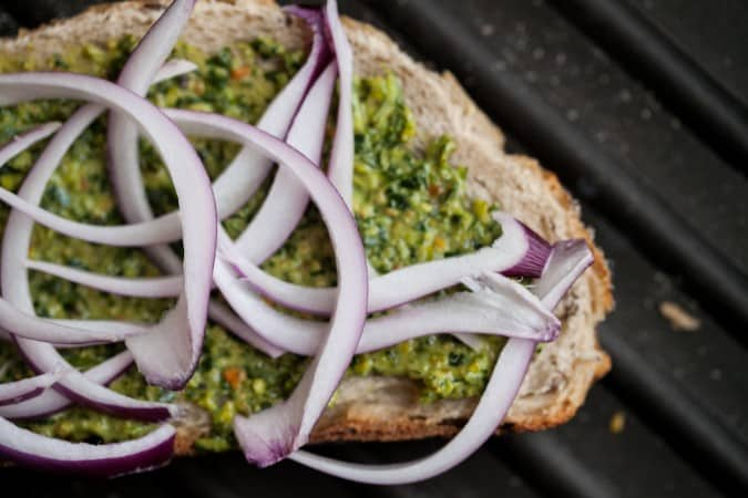 Pistachio Parsley Pesto Grilled Cheese Sandwich