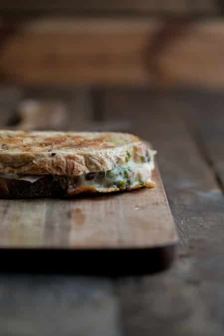 Pistachio Parsley Pesto Grilled Cheese