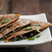 Spinach and Black Bean Quesadilla